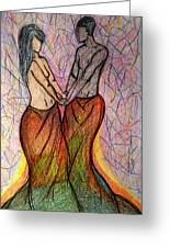 Interracial love drawing by marrianne baker interracial love greeting card m4hsunfo