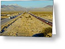 Interstate 15, Near Las Vegas, After Greeting Card