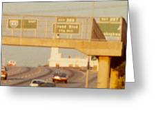 Interstate 44 West At Exit 287, Kingshighway Exit, 1980 Greeting Card