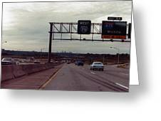 Interstate 70 West At Exit 8b, Interstate 435 North Exit, 1987 Greeting Card