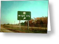Interstate 70 West At Route H Exit, 1976 Greeting Card