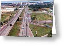 Interstate 74 West At Exit 95b, Route 116 East Exit, 1975  Greeting Card