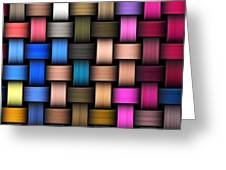 Intertwined Abstract Background Greeting Card