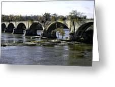Interurban Bridge At Roche De Bout Greeting Card