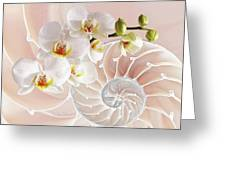 Intimate Fusion In Soft Pink Greeting Card