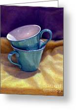 Into Cups Greeting Card