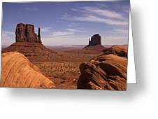 Into Monument Valley Greeting Card