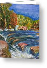 Into Slide Rock Greeting Card