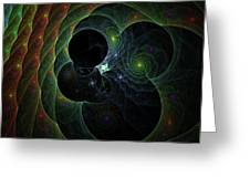 Into Space And Time Greeting Card