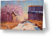 Into Spring Greeting Card