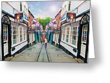 Into Steep Hill Greeting Card