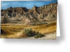 Into The Badlands South Dakota Greeting Card