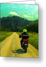 Into The Bluffs Greeting Card