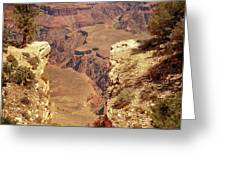Into The Canyon Greeting Card by Susan Rissi Tregoning