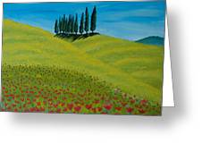 Into The Cypress Land Greeting Card