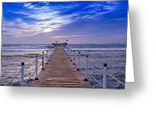 Into The Deep Water Greeting Card