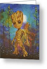 Into The Eyes Of Baby Groot Greeting Card