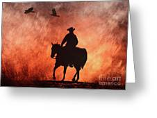 Into The Fire. Greeting Card