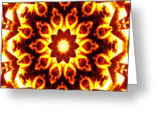 Into The Fire Greeting Card