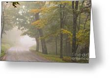 Down The Mountain, Into The Fog Greeting Card