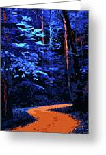 Into The Forest Of Night Greeting Card