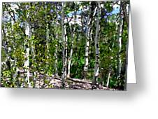 Into The Forrest Greeting Card