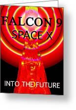 Into The Future Falcon 9 Greeting Card