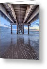 Into The Gulf At Orange Beach Greeting Card