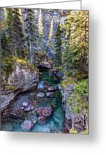 Into The Heart Of Maligne Canyon Greeting Card