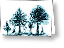 Into The Mysterious Forest Of Imagination Greeting Card
