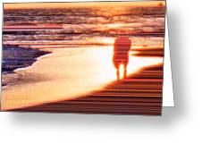 Into The Sunset 6 Greeting Card