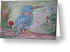 Into The Tropics The Philippine Kingfisher  Greeting Card