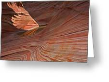 Into The Wave Greeting Card