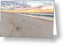 Into The Waves Greeting Card