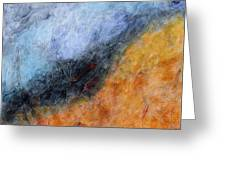 Into The Wind Abstract Greeting Card