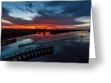 Intracoastal Sunset Greeting Card