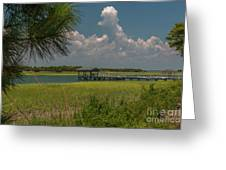 Intracoastal Water In Sullivan's Island South Carolina Greeting Card