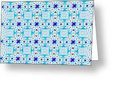 Intricate Geometric Pattern Greeting Card