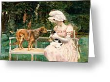 Introductions Greeting Card by Charles Henry Tenre