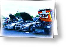 Invasion Of The Import Cars Greeting Card