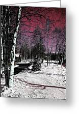 Invernal Landscape Greeting Card