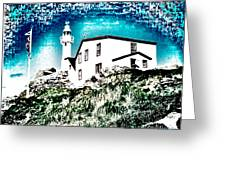 Inverted Lighthouse  Greeting Card