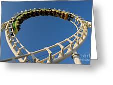 Inverted Roller Coaster Greeting Card