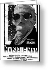 Invisible Man Movie Poster 1933 Greeting Card