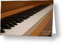 Invisible Pianist Greeting Card
