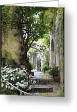 Inviting Courtyard Greeting Card
