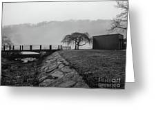 Inwood Hill Park In Fog Greeting Card