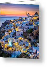 Oia Sunset Greeting Card
