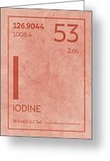 Iodine Element Symbol Periodic Table Series 053 Greeting Card
