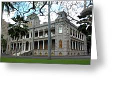 Iolani Palace, Honolulu, Hawaii Greeting Card